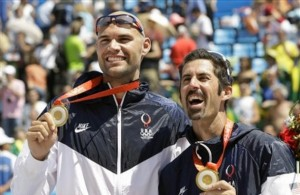 Phil Dalhausser, left, and Todd Rogers