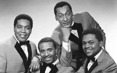 The Four Tops (including Levi Stubbs, seated left) pictured in the mid-60s