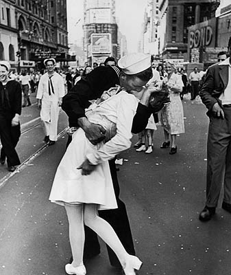 V-J Day in Times Square, New York, August 14, 1945