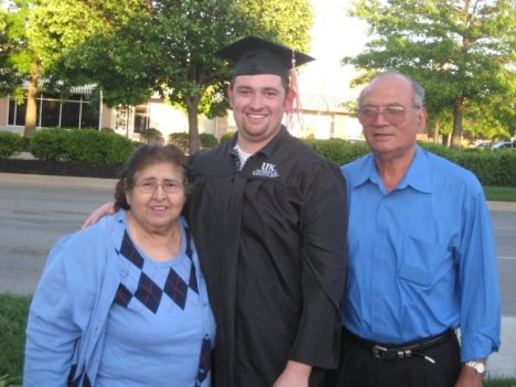 Brad and Grandparents - Graduation