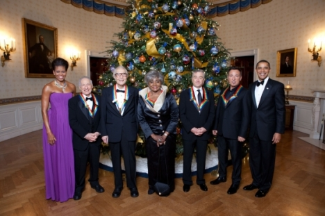 The First Lady, Mel Brooks, Dave Brubeck, Grace Bumbry, Robert De Niro, and Bruce Springsteen, and President Obama