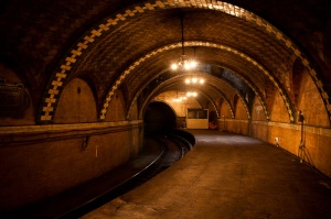 Abandoned subway station at City Hall in New York