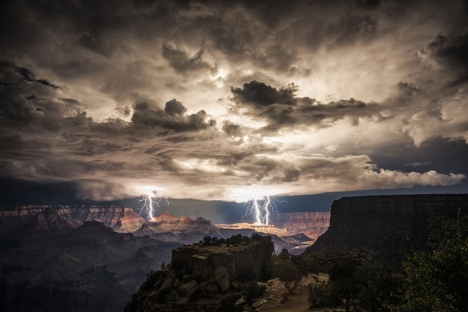 """Rolf Maeder / Rex Features via AP One of the photographers Maeder was traveling with used a flashlight and """"light-painted"""" the foreground elements of this scene during the long exposure."""
