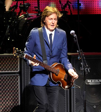 Rock icon Sir Paul McCartney performs at the Tobin Center on Wednesday, Oct. 1, 2014. Photo: Kin Man Hui, San Antonio Express-News