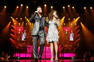 Jeremy Lyverse/Review-Journal Marie and Donnie Osmond perform inside the Flamingo Hotel and Casino on Thursday, Sept. 25, 2008.